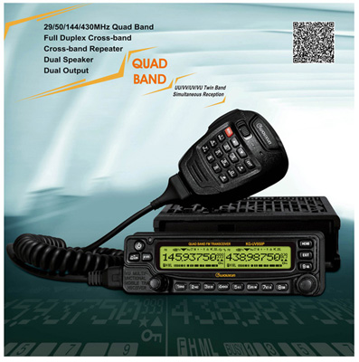 mobile radio model:KG-UV950P with QUAD bands: